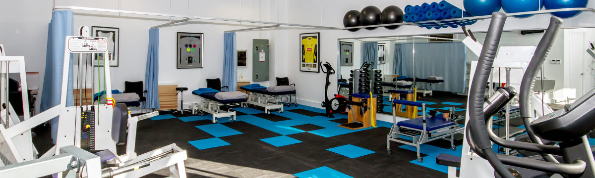 Aubin Grove Physiotherapy has a fully equipped gymnasium for private use and for insurance-based rehabilitation
